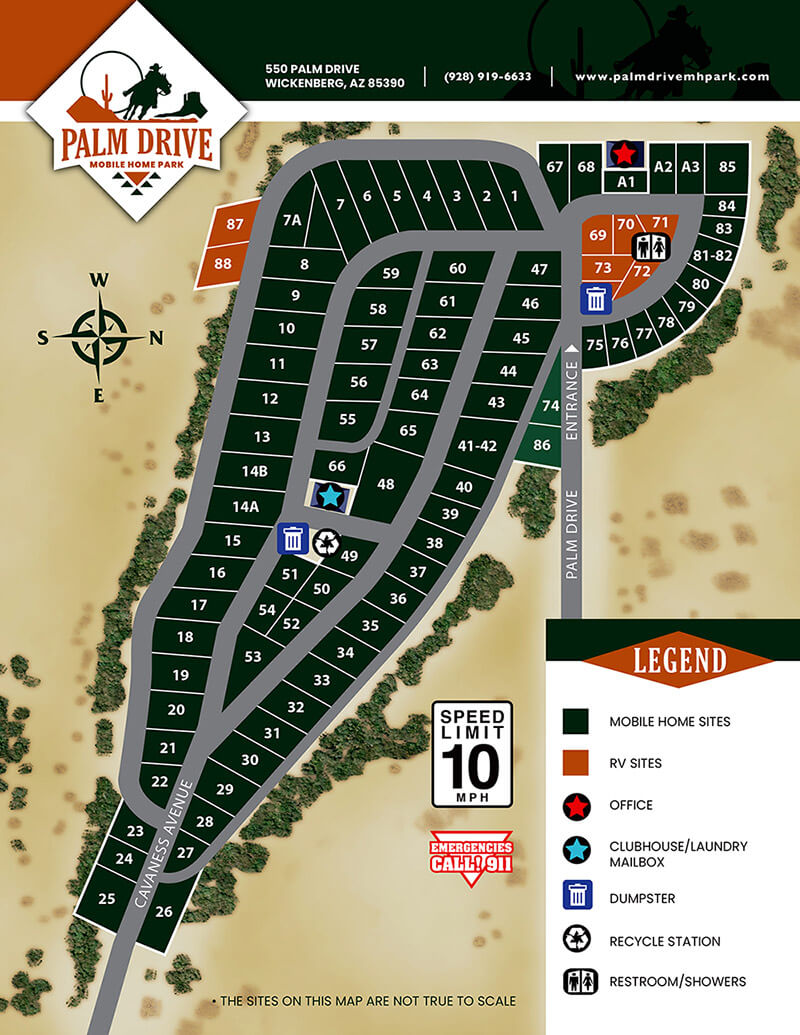 Palm Drive Resort - park map